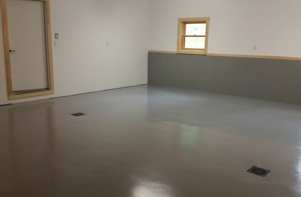 Garage floor painting by Coughlin Painting